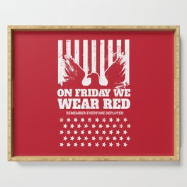 We Wear Red Friday Eagle Serving Tray