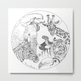 Earth Day Animals Metal Print