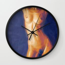 The Nude Torso Wall Clock