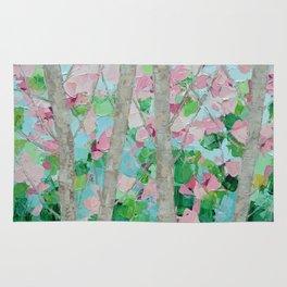 Dancing Cherry Blossom Trees Rug