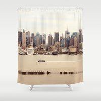 nyc Shower Curtains featuring NYC by Enkel Dika