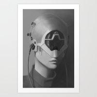 cyberpunk Art Prints featuring Cyberpunk by Dnvn