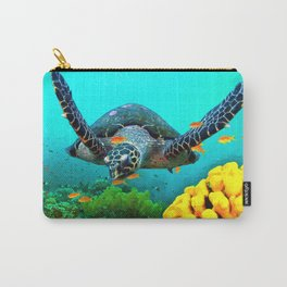 Turtle in Water Carry-All Pouch