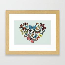 BUTTERFLY LOVE II Framed Art Print