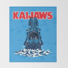 KaiJaws (Pacific Rim/Jaws) Throw Blanket