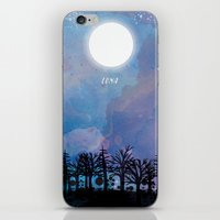 luna iPhone & iPod Skins featuring Luna by Jo Cheung Illustration