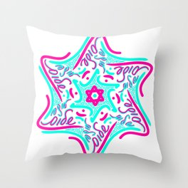 Shalom Star of David - 1 Throw Pillow