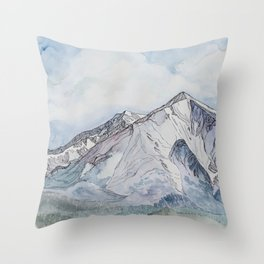Spring  on Mount Sopris Throw Pillow