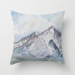 Spring  on Mount Sopris Throw Pillow