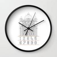 roman Wall Clocks featuring Roman Numerals by Javier Montañés