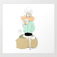 winter flock. Art Print