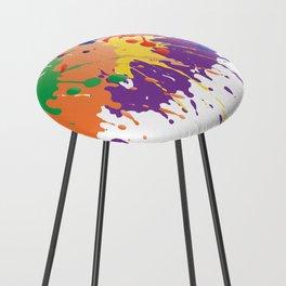 Colourful Paint splash Counter Stool