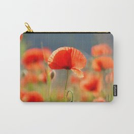 Red Poppies Flowers Carry-All Pouch