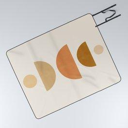 Abstraction_Geometric_Shape_Moon_Sun_Minimalism_001D Picnic Blanket