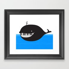 whale  (water proof piano!) Framed Art Print