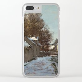 Snow at Argenteuil Clear iPhone Case