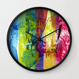 Overlap interrupting wrapped up in thoughts while. [CMYK] Wall Clock