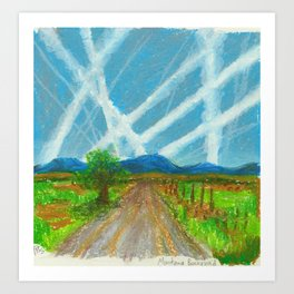 Chemtrails on the Back Road Art Print