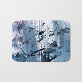 Breathe [6]: colorful abstract in black, blue, purple, gold and white Bath Mat