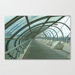 Third millenium bridge,in feature town Zaragoza Canvas Print
