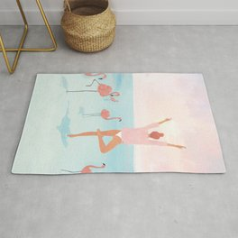 Big Flamingo Rug
