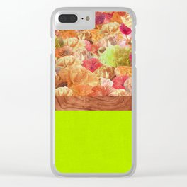 Layers Floral Lime Clear iPhone Case