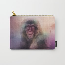 Macaque (Low Poly Multi II Snow Monkey) Carry-All Pouch