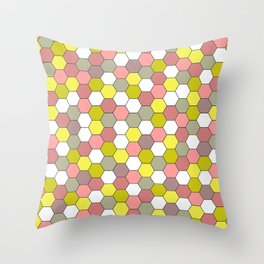 honeycomb tile mauve Throw Pillow