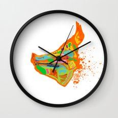 pig head Wall Clock