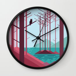 The guardian of the forest Wall Clock