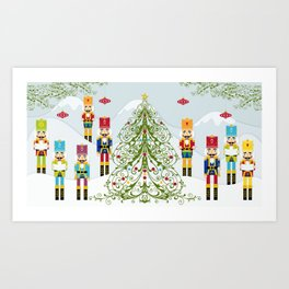 Nutcrackers choir Art Print