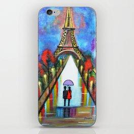 Love In Paris Romantic Painting Valentine Giftart iPhone Skin