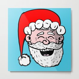 Laughing Santa Metal Print