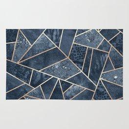 Soft Dark Blue Stone Rug
