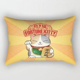 Maneki Neko Fortune Kitty Rectangular Pillow
