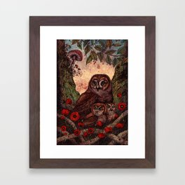 Tawny Owlets Framed Art Print