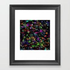 Paint Splatter 2 - Black Framed Art Print