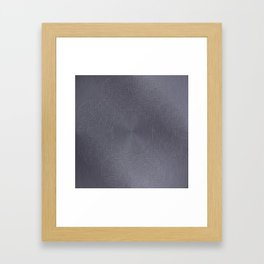 Cool Brushed Metal with a Stamped Design Framed Art Print