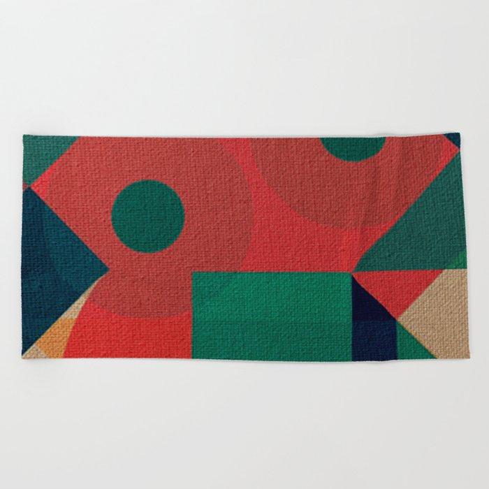 Geometric War Beach Towel