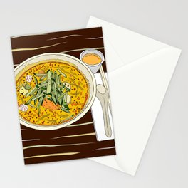 Singapore Laksa Noodle Stationery Cards