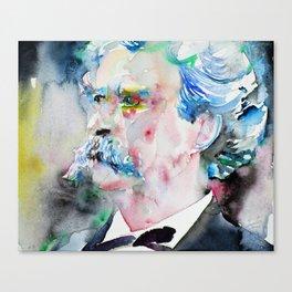 MARK TWAIN - watercolor portrait.2 Canvas Print