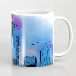 The Space Needle In Soft Abstract Coffee Mug