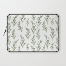 Baby Blue Eucalyptus Watercolor Painting Laptop Sleeve