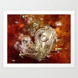Rings and discs Art Print