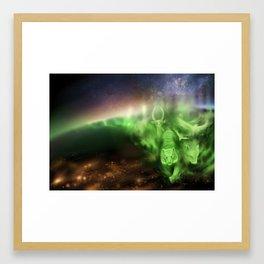 Aurora Spirits Framed Art Print