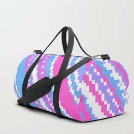 pink blue purple and white Duffle Bag
