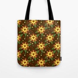 Flowers versus Hearts Tote Bag