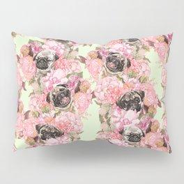 Pugs in Garden Pillow Sham