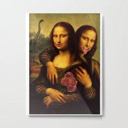 Monalisa Twins Metal Print