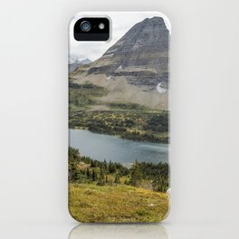 Overlooking Hidden Lake and BearHat Mountain iPhone Case
